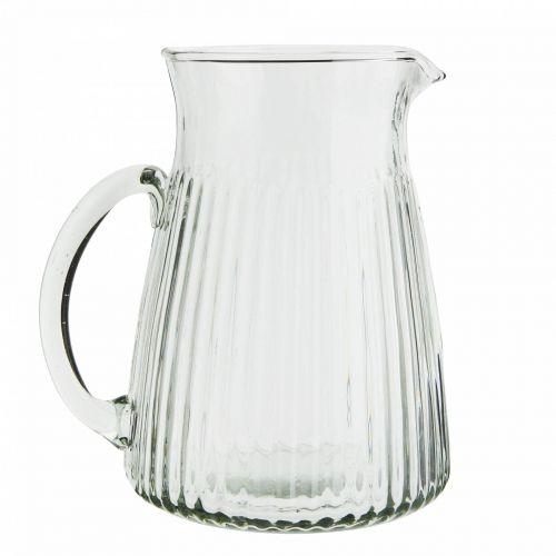 MADAM STOLTZ / Sklenený džbánik Glass Jug Grooves 1,5 L