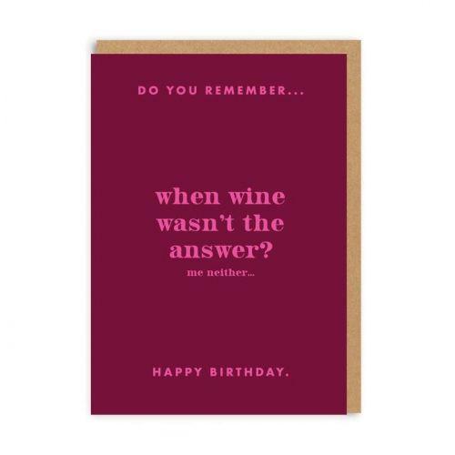 Ohh Deer / Prianie k narodeninám Do You Remember Wine?