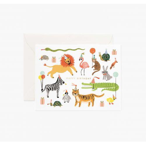 Rifle Paper Co. / Narodeninové prianie s obálkou Party Animals