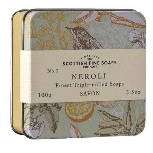 SCOTTISH FINE SOAPS / Mýdlo v plechové krabičce NEROLI