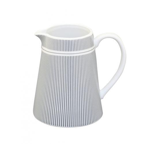 Krasilnikoff / Porcelánový džbánek na mlieko Grey Stripes