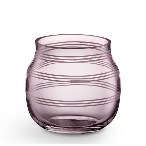 KÄHLER / Skleněný svícen / váza Omaggio Plum 7,5 cm