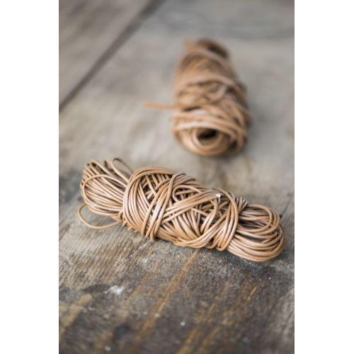 IB LAURSEN / Okrúhly kožený povrázok - hnedý 1m