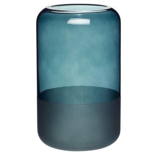 Hübsch / Sklenená váza Thin Matte Blue