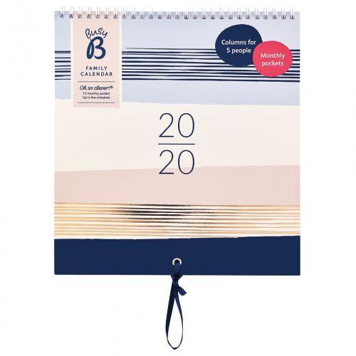 Busy B / Rodinný nástenný kalendár Contemporary 2020
