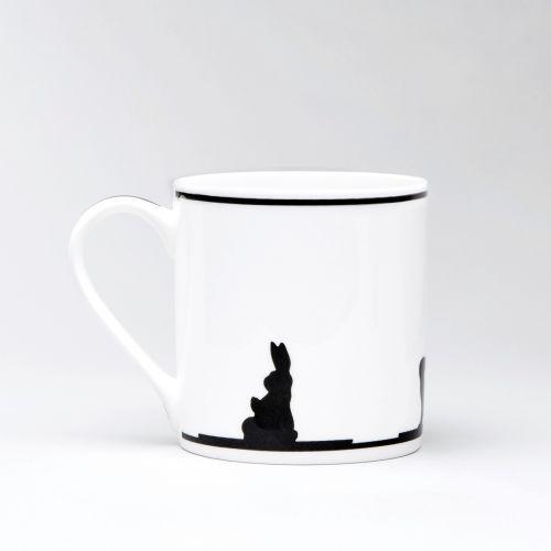 HAM / Porcelánový hrnček Yoga Rabbit
