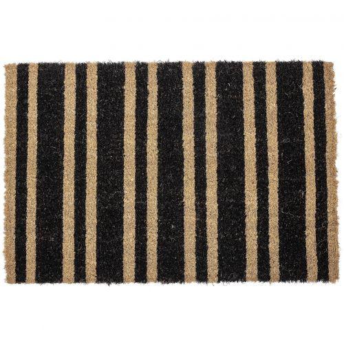 Bloomingville / Rohožka z kokosových vlákien Black Stripe