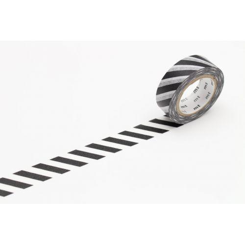 mt / Dizajnová samolepiaca páska Stripe Black 2