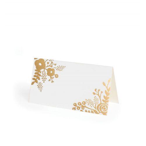Rifle Paper Co. / Papierové menovky Gold Lace - 8 ks