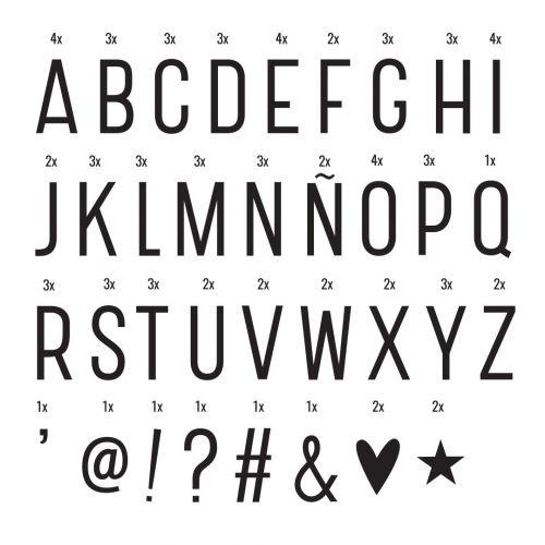 A Little Lovely Company / Set písmen a symbolov pre Lightbox: Basic