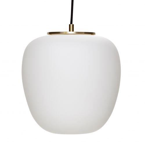 Hübsch / Sklenený luster White/Brass 30 cm