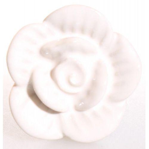 La finesse / Porcelánová úchytka White Rose