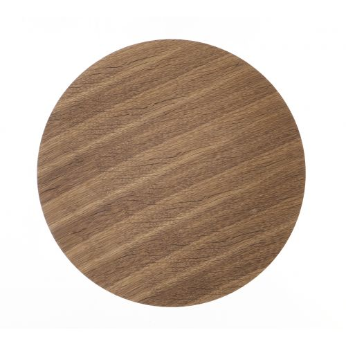 ferm LIVING / Drevený poklop na drôtený kôš Smoked Oak - medium