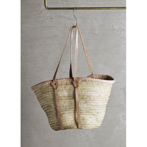 Tine K Home / Slamená taška Tine K Natural - dlhé uchá