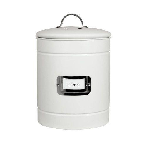 Strömshaga / Plechové vedierko na kompost Hilma White