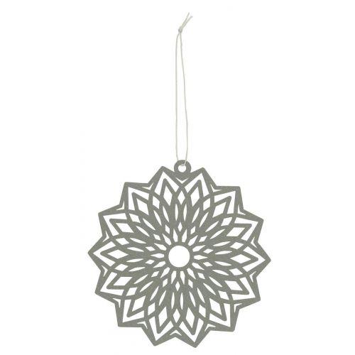 IB LAURSEN / Závesná papierová ozdoba Flower Grey 12 cm
