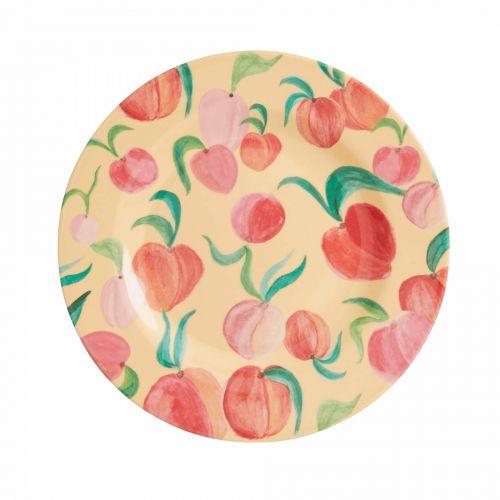 rice / Melamínový tanier Peach Print