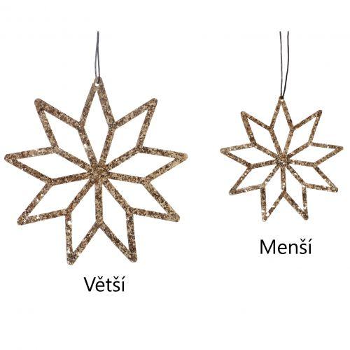 Hübsch / Závesná dekorácia Cooper Fabric Star