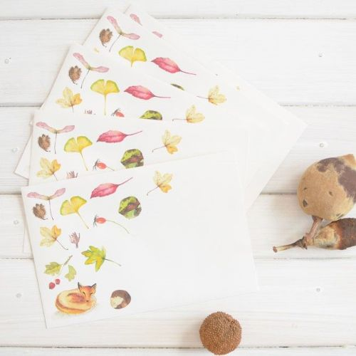 MANKAI Paper / Set obálok na dopisy Jeseň - 5 ks