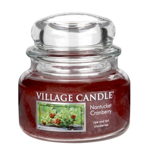 Village Candle / Svíčka ve skle Nantucket Cranberry - malá