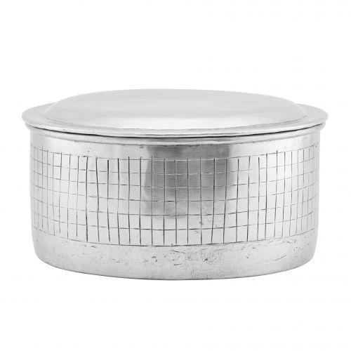 House Doctor / Hliníková dóza Noova Silver 20 cm