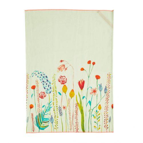 rice / Bavlněná utěrka Flowers