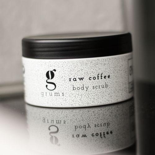 grums / Telový raw peeling z kávovej usadeniny 200 ml