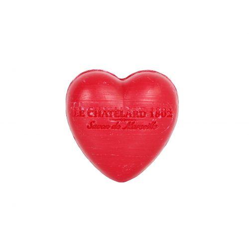 LE CHATELARD / Francúzske mydlo Heart - Červené ovocie 25gr