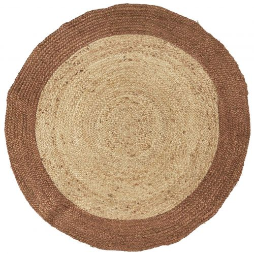 IB LAURSEN / Jutový koberec Brown Edge ⌀120cm