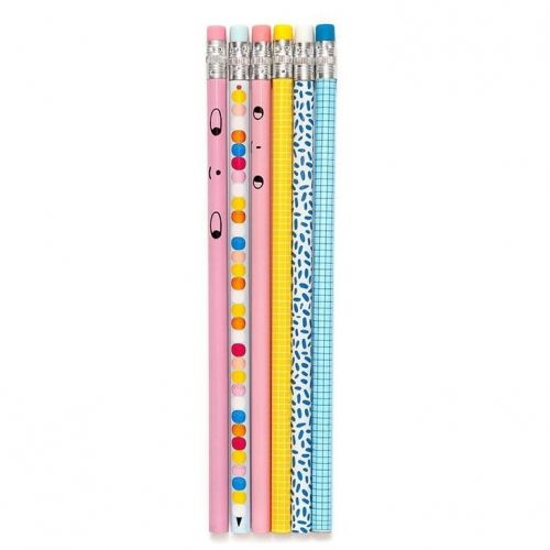PETIT MONKEY / Sada detských ceruziek Funky Colors - 6 ks
