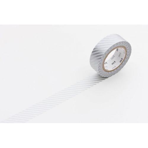 mt / Designová samolepiaca páska Stripe silver
