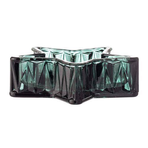 Bloomingville / Sklenený svietnik Green Glass