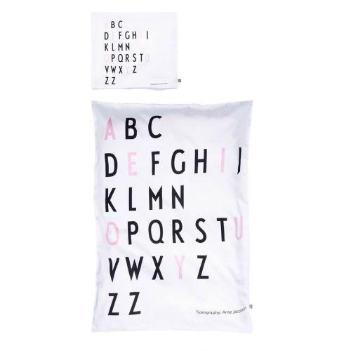DESIGN LETTERS / Obliečka Baby Letters Pink 70x100