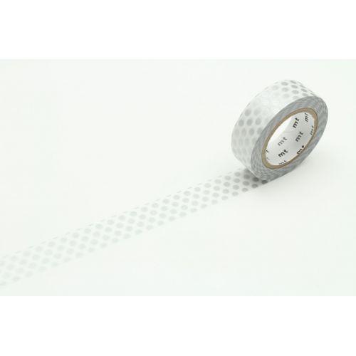 mt / Japonská papierová páska Silver Dot