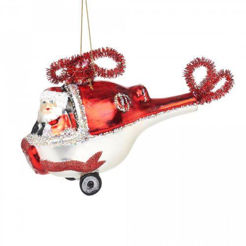 sass & belle / Vianočná ozdoba Santa In A Helicopter