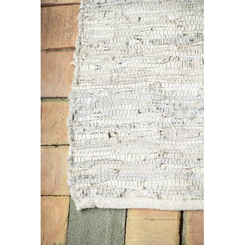 IB LAURSEN / Kožený koberec Light Grey 250x300 cm