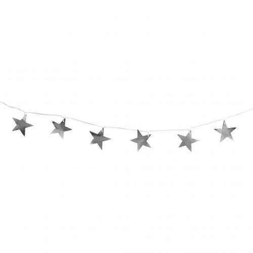 Tine K Home / Vianočná girlanda Silver Metal Stars