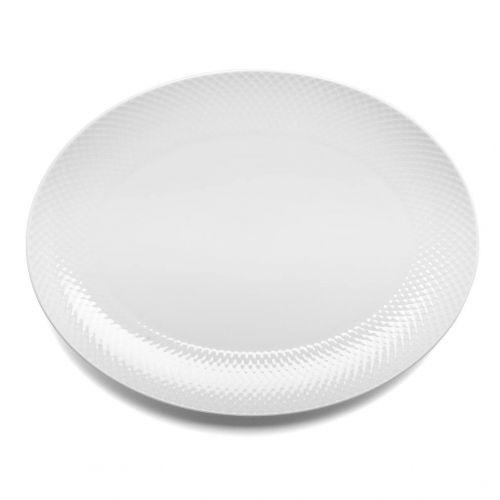 LYNGBY / Porcelánový servírovací tanier Rhombe Oval White