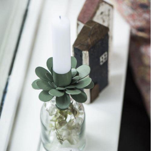 IB LAURSEN / Kovový svietnik Flower Olive Green