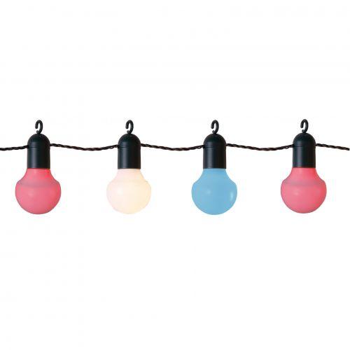 STAR TRADING / Farebná vonkajšia LED reťaz - 20 žiaroviek