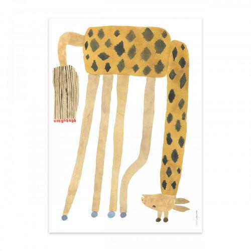 OYOY / Plagát Noah Giraffe Upside Down 50x70cm