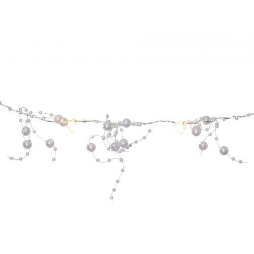 STAR TRADING / Světelný LED řetěz White pearls
