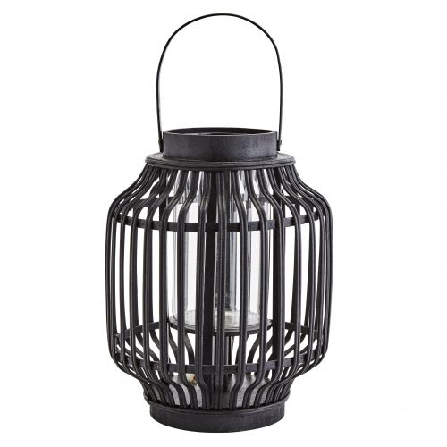 MADAM STOLTZ / Bambusový lampáš Glass/Black