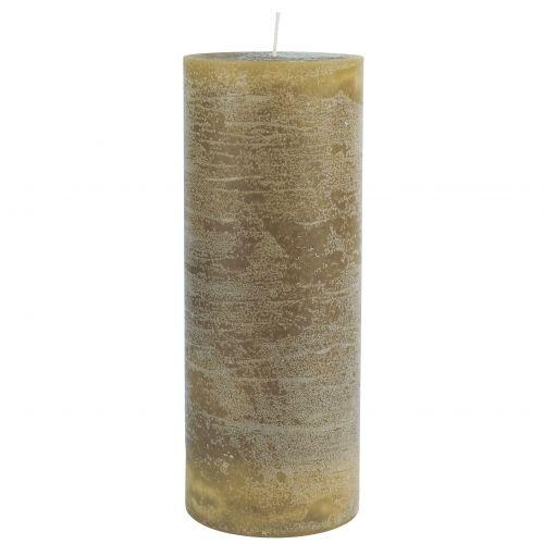 IB LAURSEN / Okrúhla sviečka Rustic Mustard 18 cm