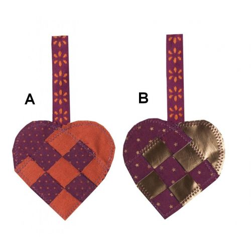 Maileg / Dekoratívne srdiečko Purple