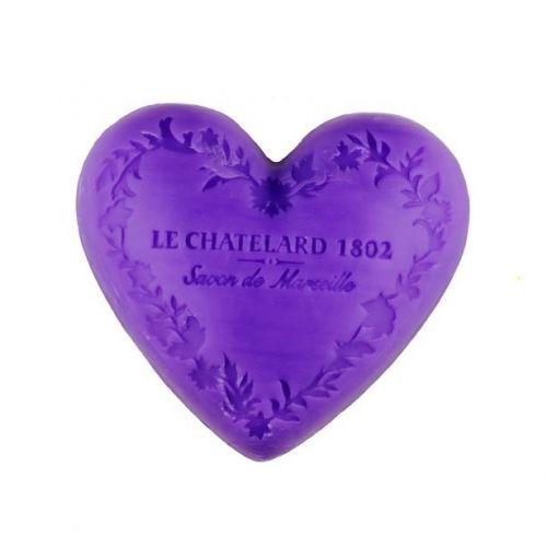 LE CHATELARD / Marseillské mydlo Heart - fialka a ostružiny 100gr