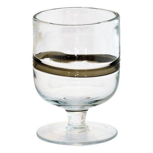 GREEN GATE / Pohár na víno Black Stripe 400 ml