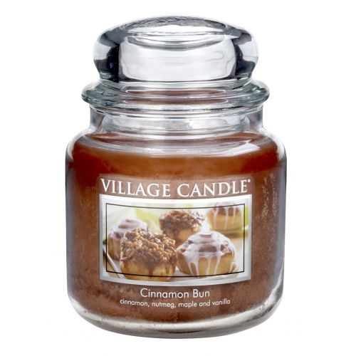 VILLAGE CANDLE / Sviečka v skle Cinnamon Bun - stredná