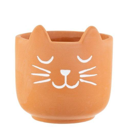 sass & belle / Terakotový obal na kvetináč Cat's Whiskers Mini