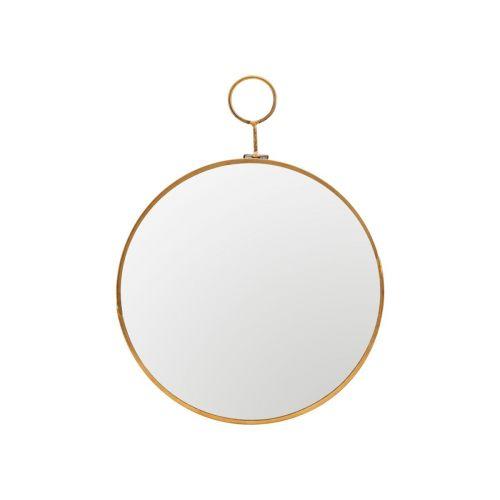 House Doctor / Nástenné zväčšovacie zrkadlo Brass 22cm